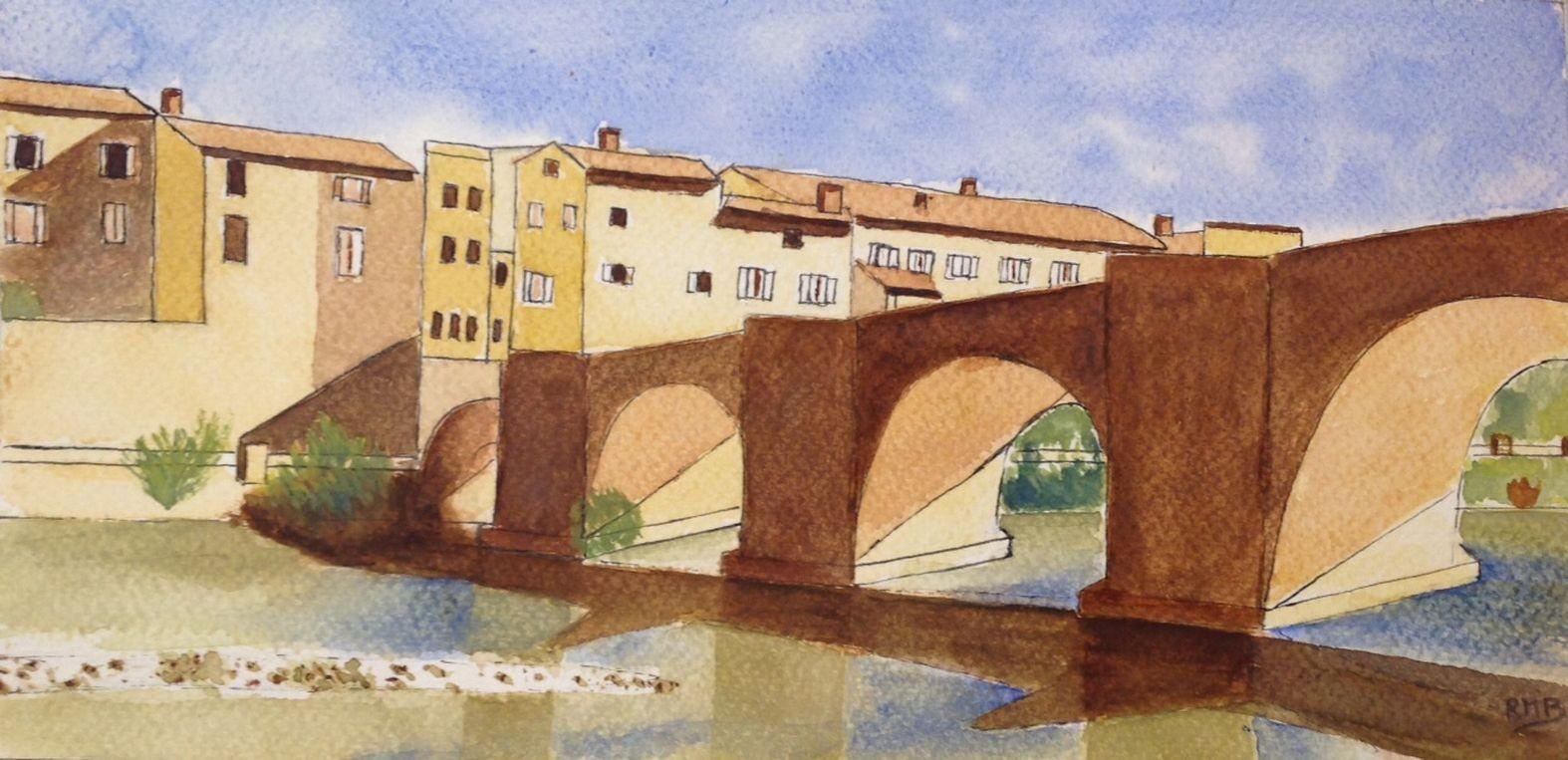 Rose marie pont de limoux croquis aquarelle 05 2020