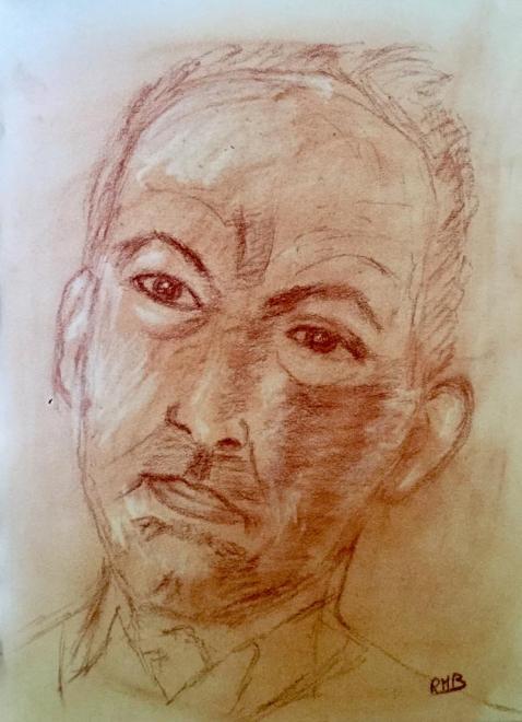 Rose-Marie portrait sanguine 11-03-2017