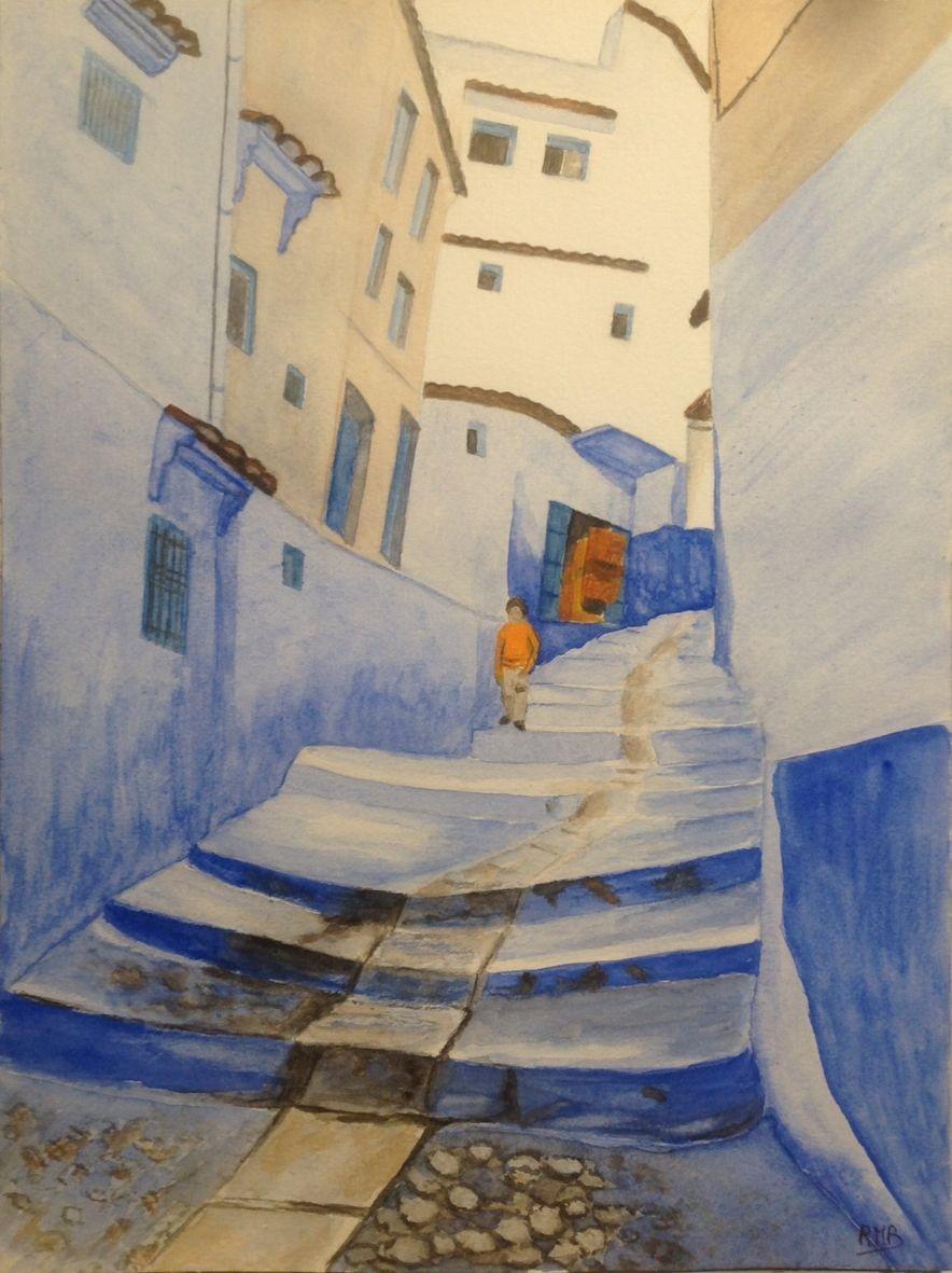 Rose marie rue marocaine aquarelle 06 2020