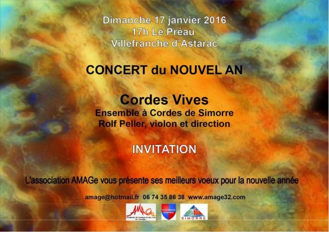 Amage invitation nouvel an 2016