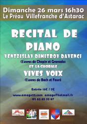 Amage recital de piano davenci 26 mars 2019