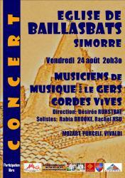 Baillasbats amage concert 2018 affiche