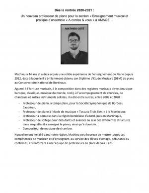 Presentation mathieu cote